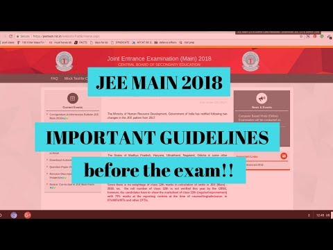 Important guidelines for students before JEE MAINS 2018   AglaSem