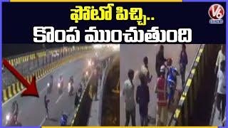 Selfie Stunts On Durgam Cheruvu Cable Bridge
