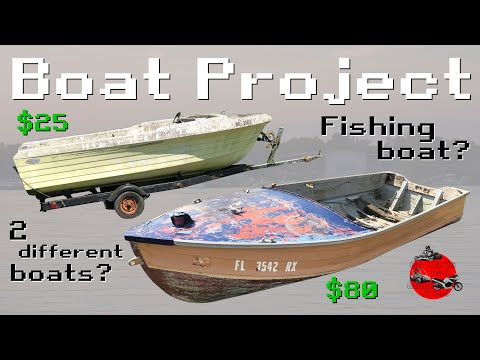 Buying 2 of the Cheapest Boats on Facebook Marketplace - Aluminum Fishing Boat Restoration