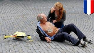 救急ドローンが心臓発作患者を数分以内に救命へ。蘭学生が開発
