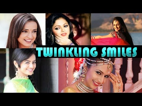 Twinkling smiles of TV stars
