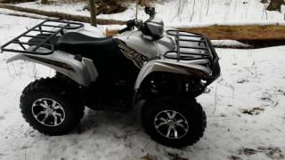 8. Brand new yamaha 2017 grizzly 700 SE first ride
