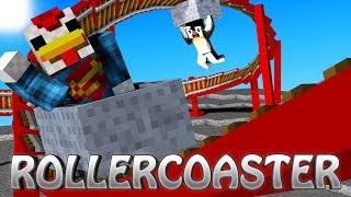Minecraft | Roller Coaster Mod Showcase! (Roller Coaster Tycoon, RollerCoaster, Amusement Park)