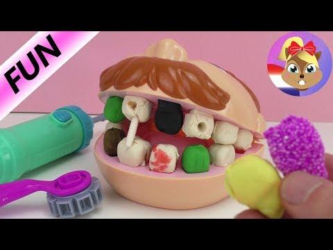 Play doh - Play-Doh Dr. Wiebeltand met schimmeltanden van klei - nieuw Foam Clay kunstgebit - Speel met mij