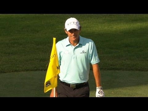 Charles Howell III holes a beautiful chip shot at THE PLAYERS
