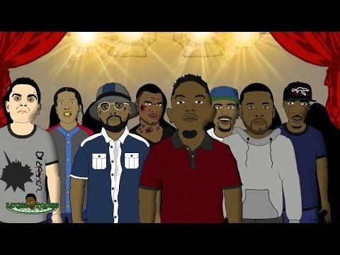 Drake Vs Kendrick Lamar - Rap Battle (Animated Cartoon)