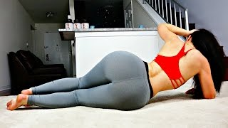 20 Min Big Butt Lift Workout! No Equipment Needed - YouTube