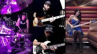 David Guetta - Dangerous - Drum Cover & Bass Cover (Ft. Anna Sentina & Miki Santamaria)