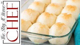 """Learn how to make Homemade Hawaiian Sweet Rolls that are soft, fluffy, and totally easy to make. These sweet rolls will be an instant family favorite!________________________________________↓↓↓↓↓↓ CLICK FOR RECIPE ↓↓↓↓↓↓↓↓ _______________________________________How to make Homemade Hawaiian Sweet RollsINGREDIENTS1/3 cup milk (warmed to the touch)2/3 cup crushed pineapple1 tablespoon yeast1/4 cup brown sugar1 teaspoon salt4 tablespoons butter, softened1 egg3+ cups all-purpose flour1 tablespoon butter, melted (for brushing)INSTRUCTIONS1. In the bowl of a stand mixer, combine milk, pineapple, yeast, brown sugar, salt, softened butter, egg, and 3 cups flour.2. Knead on a low speed until ingredients combine, then increase speed to medium. Add more flour if necessary to form a dough ball. Dough will be slightly sticky, but shouldn't stick to your fingers.3. Let rise in a greased bowl, covered with a tea towel, for 1 hour, or until double in size.4. Form into one dozen 2.5 ounce rolls. A kitchen scale is helpful, or you can just eyeball it. Roll into balls on a smooth surface.5. Place in a greased glass 9x13 pan. Cover with a tea towel and rise 1 hour or until double in size.6. Preheat oven to 375 degrees. Bake rolls in the preheated oven for 12-15 minutes until lightly browned. Brush with 1 tablespoon of melted butter.Thanks for watching! Don't forget to push """"LIKE,"""" leave a COMMENT below, and SUBSCRIBE! Feel free to SHARE this video too.PRINTABLE RECIPE:  http://thestayathomechef.com/hawaiian-sweet-rolls/SUBSCRIBE to my channel: http://youtube.com/thestayhomechefFACEBOOK: https://www.facebook.com/TheStayAtHomeChef/INSTAGRAM: https://instagram.com/thestayathomechef/PINTEREST: https://www.pinterest.com/stayathomechef/TWITTER: https://twitter.com/thestayhomechefCONTACT ME: stayathomechefblog@gmail.comCarefree by Kevin MacLeod is licensed under a Creative Commons Attribution license (https://creativecommons.org/licenses/...)Source: http://incompetech.com/music/royalty-...Art"""