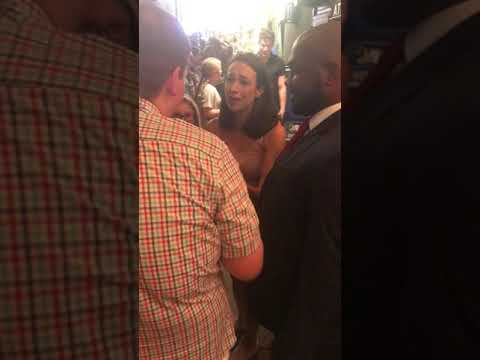 Colleen Ballinger's first Waitress stage door appearance