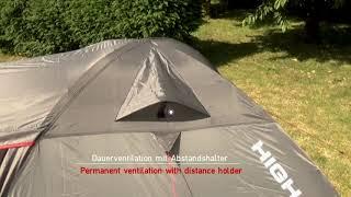 Комфортная палатка для путешествий с большим количеством снаряжения  High Peak  Kira 4