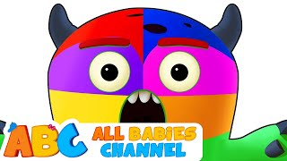 MONSTER FACE PAINTING | Learn Colors With Face Paint | 3D Nursery Rhymes For Kids | AllBabiesChannel
