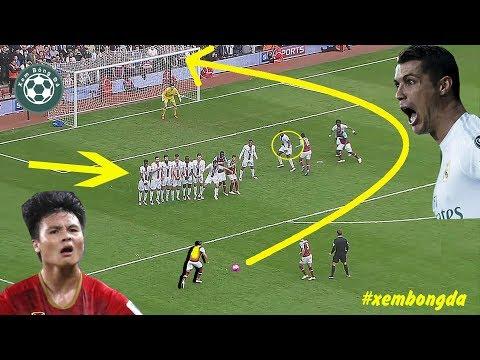 Lionel Messi thách Ronaldo và Quang Hải sút phạt được như thế này và đây là các siêu phẩm  @ vcloz.com