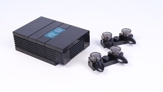 How to Build a LEGO PlayStation 2 (PS2) for Minifigs