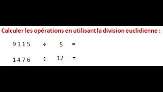 Maths 6ème - Les opérations : Addition Soustraction Multiplication Division Exercice 14