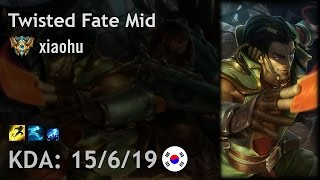 Twisted Fate Mid vs Yasuo - xiaohu - KR Challenger Patch 6.24