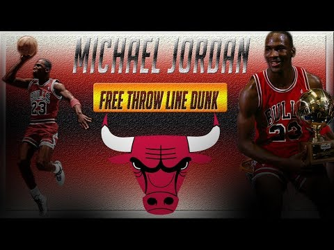 Michael Jordan Iconic Free Throw Line Dunk 1987
