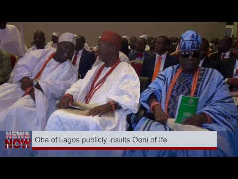 Oba Akiolu Of Lagos Humiliates Ooni Of Ife Publicly [Video]