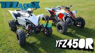 6. HMF EXHAUST 2014 YAMAHA  YFZ450R VS STOCK 2010 YAMAHA YFZ450X