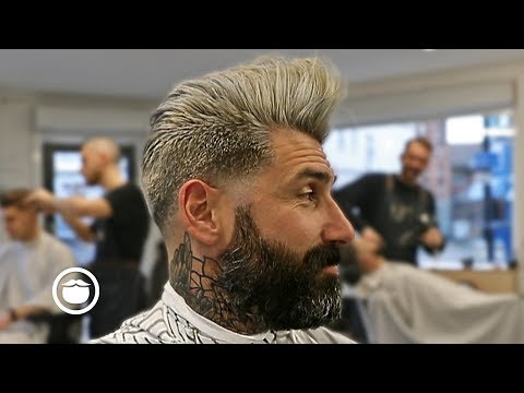 Mens hairstyles - Bleached Pompadour Men's Haircut  OFF - CUT Barbers