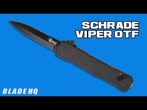 "Schrade Viper OTF Assisted Opening Knife (3.5"" Bead Blast) SCHOTF3"