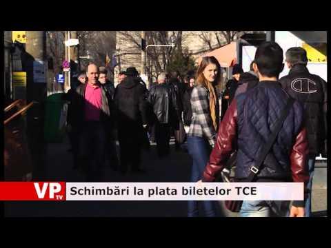 Schimbări la plata biletelor TCE