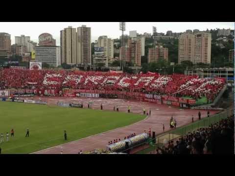 Mosaico Barra del Caracas FC. Seguid el ejemplo que Caracas Dio. - Los Demonios Rojos - Caracas