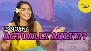 See How Auli'i Cravalho Influenced Moana! Video