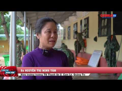 Lực lượng vũ trang giúp huyện Cam Lộ khắc phục hậu quả mưa lũ