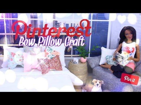 DIY – How to Make: Pinterest Craft – Bow Pillow – Handmade Doll Crafts – 4K