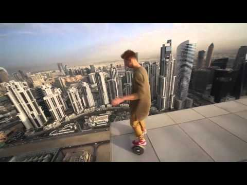 This Guy Rode His Hoverboard On a Freaking Skyscraper