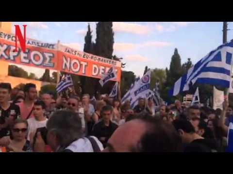 Βίντεο από τη συγκέντρωση υπέρ του όχι