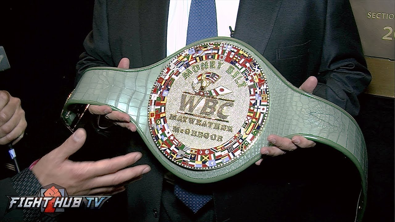 MAURICIO SULAIMAN REVEALS ONE OF A KIND MONEY BELT FOR MAYWEATHER MCGREGOR FIGHT