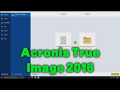 Backups mit Acronis True Image 2016