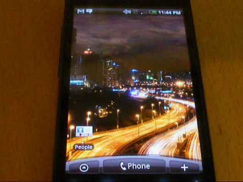 Video of City at Night Live Wallpaper