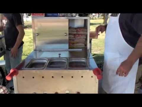 Hot Dog Cart Setup Instructions - Steam Pans