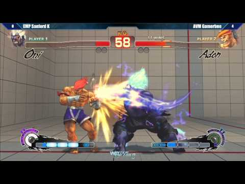 gamerbee - SSF4 AE2012 Exhibition: AVM Gamerbee vs EMP Sanford K - Winter Brawl 8 Tournament.
