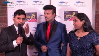 Anchor Manoj talks to Simon and Nisha on the FTV Red Carpet