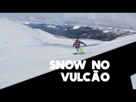 Snowboard em um vulcão no Chile
