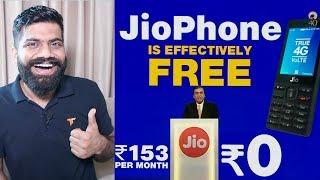 Namaskaar Dosto, is video mein maine aapse Jio Phone ki baare mein baat ki hai, JioPhone free mein launch kiya hai 1500Rs upfront fir refund milega 36months ...