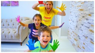 Learn the Main Colors with the  Tag Game - Nursery Learning Video by Kls