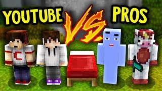 NOOB YouTubers VS PROS! (Minecraft Bed Wars)