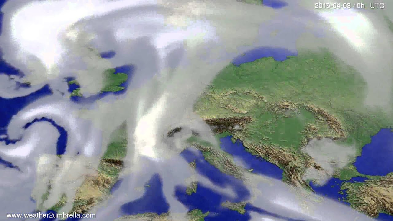 Cloud forecast Europe 2016-04-01