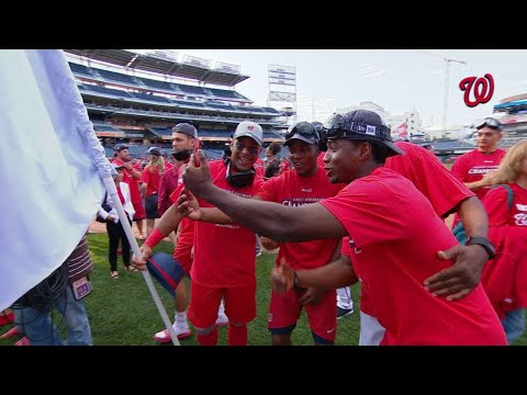 PHI@WSH: Nats celebrate after clinching NL East title