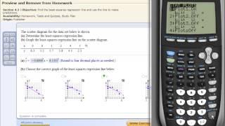 Least Squares Regression Line on the TI83 TI84 Calculator
