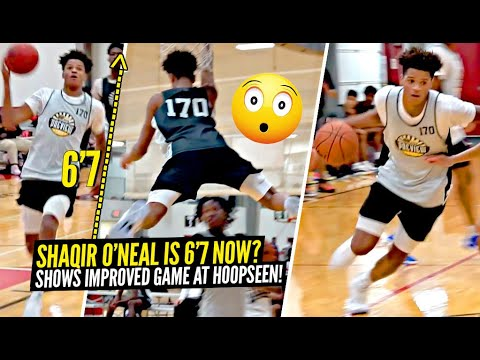 Shaqir O'Neal Has Grown To 6'7! Shows Off NEW & IMPROVED GAME at Hoop Seen Camp!