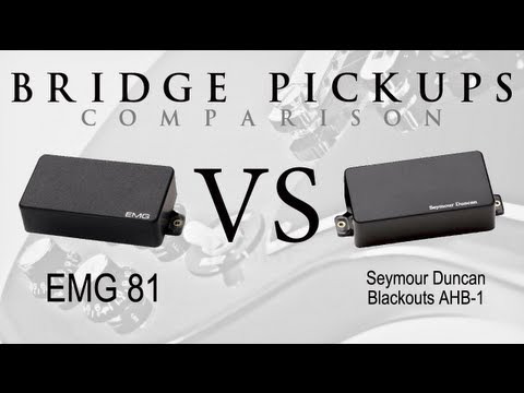EMG 81 vs BLACKOUTS - Active Bridge Pickup Metal Tone Comparison / Review #1