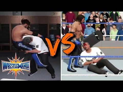 AJ Styles vs Shane McMahon - WWE Wrestlemania 33 Full Match Preview (WWE 2K17)
