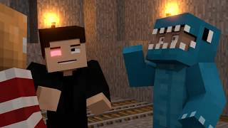 Vanoss Gaming, Terroriser and BasicallyIDoWork Minecraft funny animation