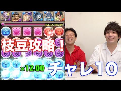 9月のチャレ10、枝豆簡単攻略!【パズドラ】
